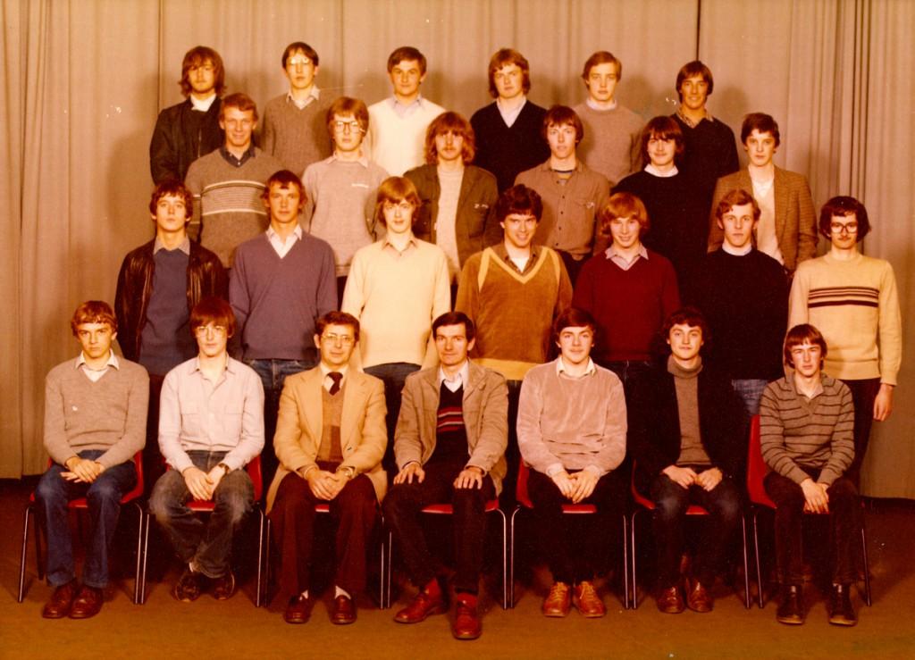 Klasfoto 6WEB 1981 (Klik op de foto voor groter formaat)